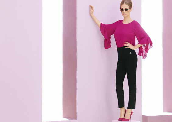 Vibrant and lightweight georgette top & trouser
