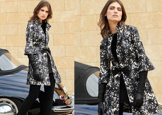 Joseph Ribkoff Printed coat, essential cami, Trendy trousers