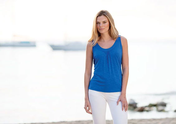 Marble Scotland blue top